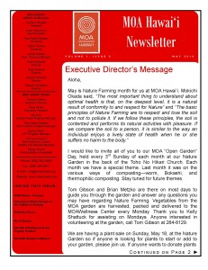 MOA Hawaii Newsletter & Calendar - May Issue