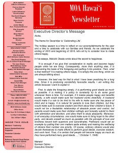 MOA Hawaii Newsletter - December 2015 Issue_Page_1