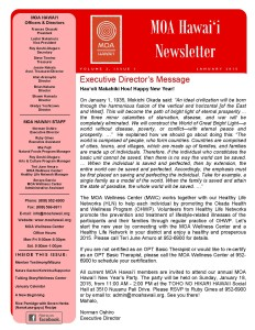 MOA Hawaii Newsletter - January 2015